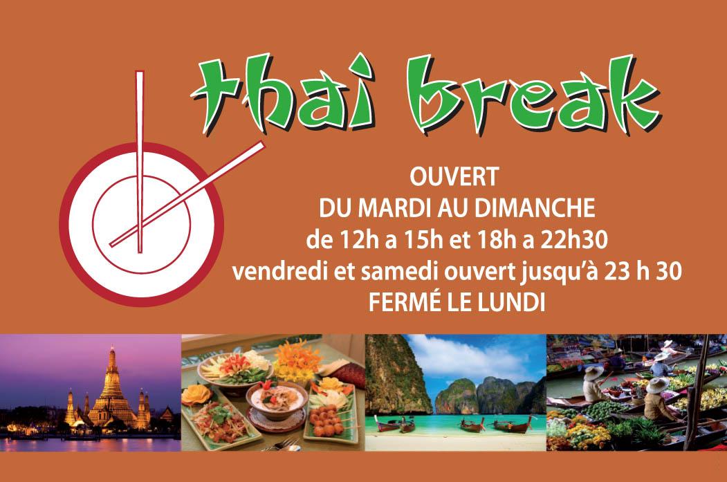 Carte de visite Thai break