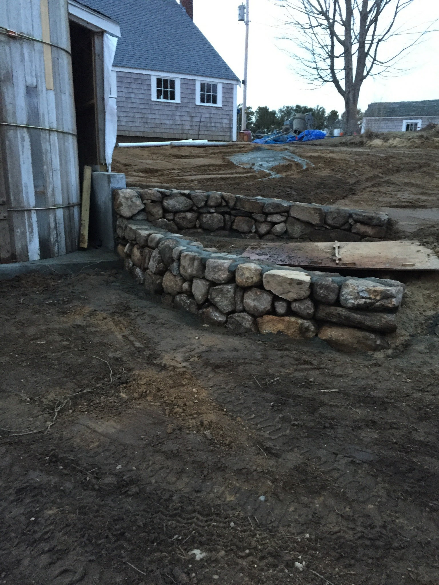 New rock walls