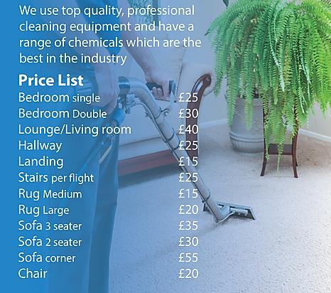 carpet clean price list
