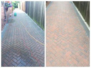 block paving cleaning before & After