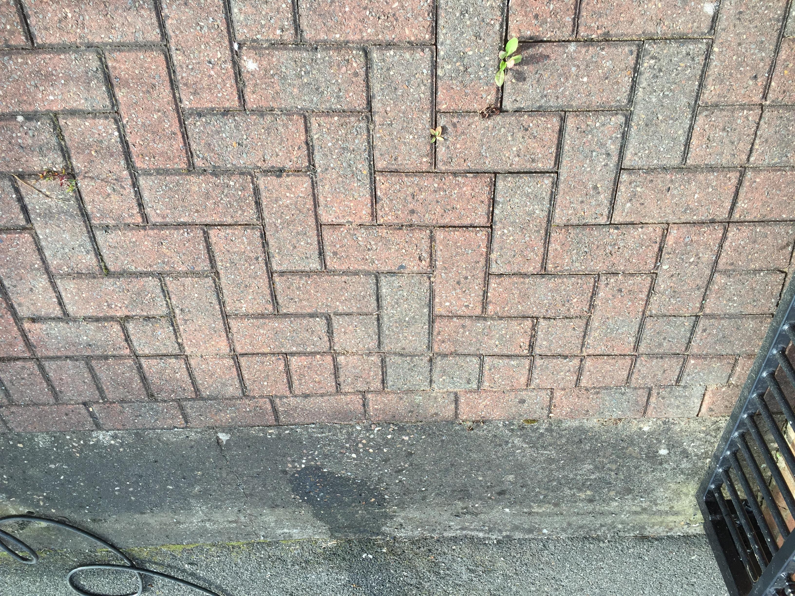 Block Paving dirty