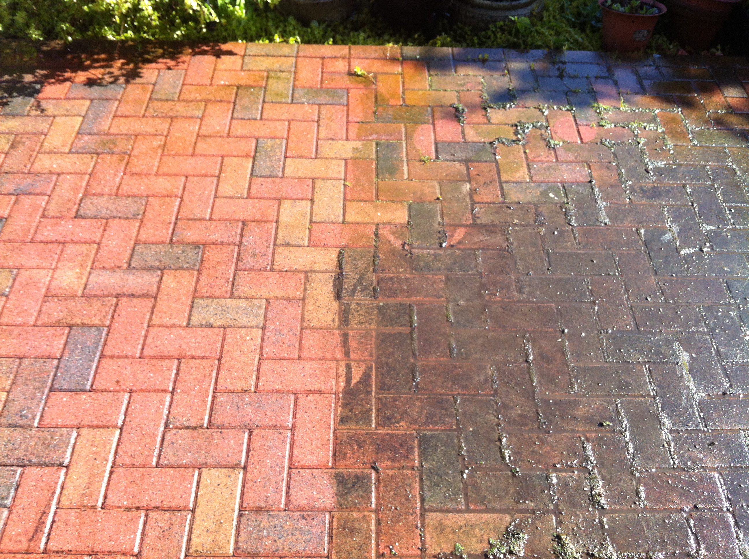 block paving clean