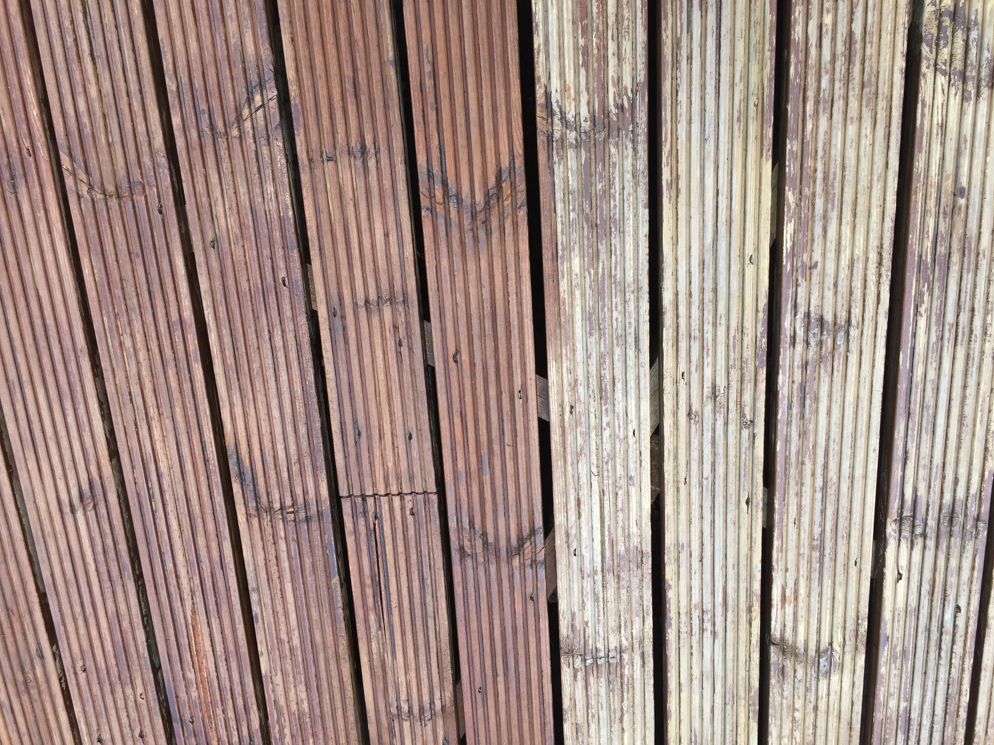 decking cleaning before and after