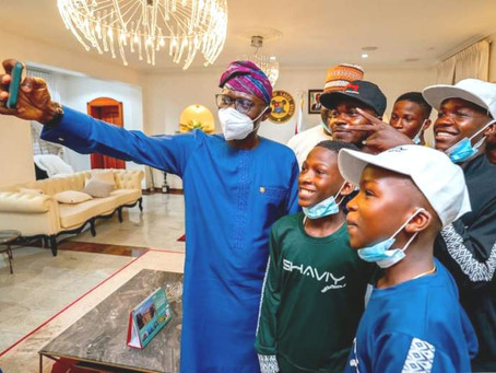 GOV. SANWO-OLU: WE'RE COMMITTED TO DEVELOPING CREATIVE INDUSTRY