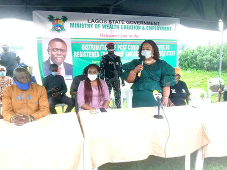 COVID-19: LASG Distributes Relief Packages To Tradesmen, Artisans