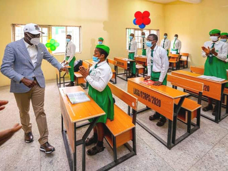 GOV. SANWO-OLU COMMISSIONS 66-CLASSROOM BLOCKS IN FOUR LAGOS SCHOOLS