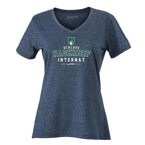 Damen V-Neck T-Shirt Internat