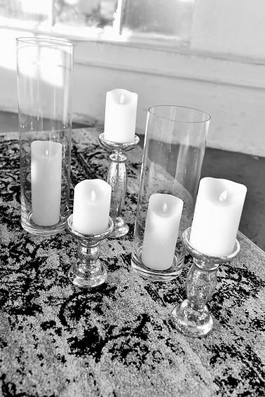Flameless Flickering Candles & Pillars