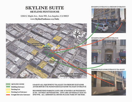 Skyline Suite-Parking & Load In UPDATED.
