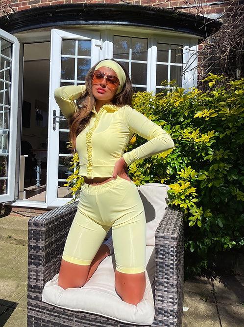 The Lemon Leisure 3 Piece - Cycle Shorts