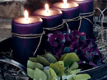 Magia con velas moradas
