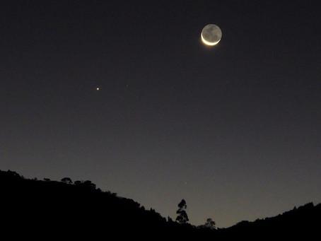 Conjunción de la Luna y Mercurio del 14 de enero