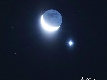 Conjunción de la Luna y Venus del 11 de enero