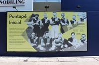 Banner informativo dentro do Clube Pinheiros