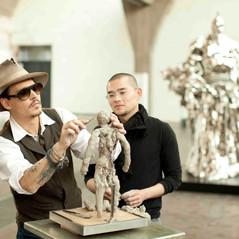 Johnny Depp visits Ren Zhe Studio
