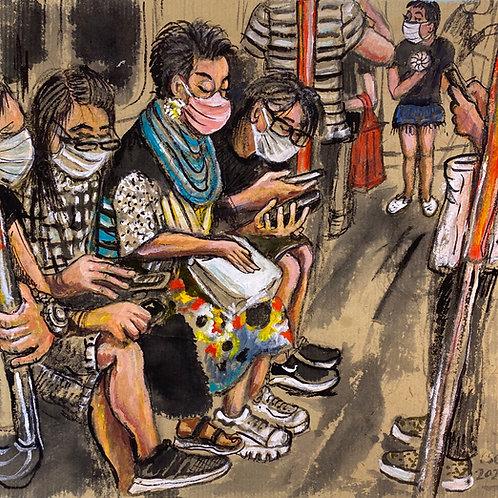 Passengers on the MTR|地鐵上的人
