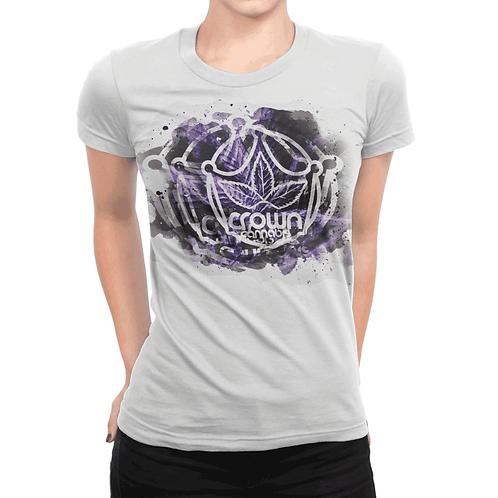 Crown Watercolor Women's GreyT-Shirt