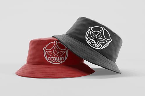 Crown Bucket Hat Red Black