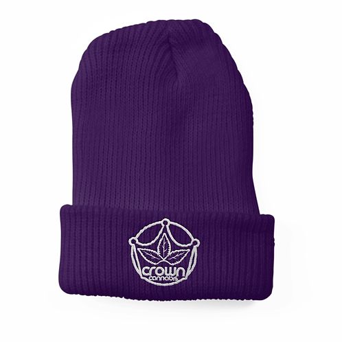 Crown Beanie Purple