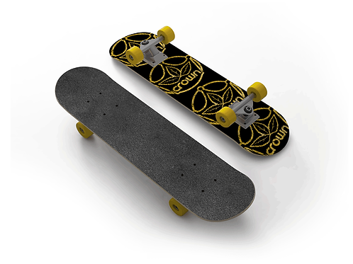 Crown Cannabis Gold Crack Complete Skateboard