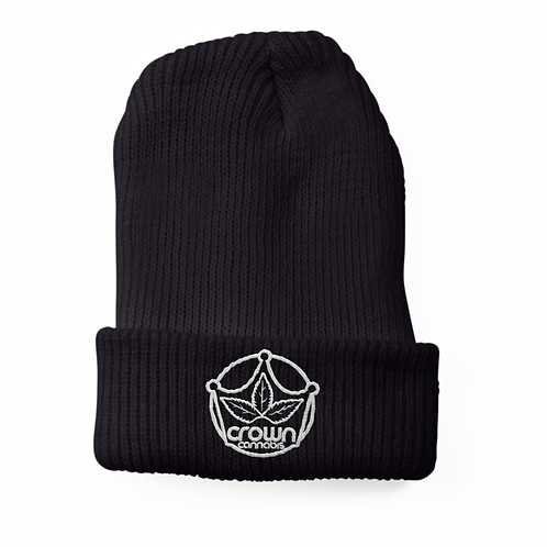 Crown Black Beanie