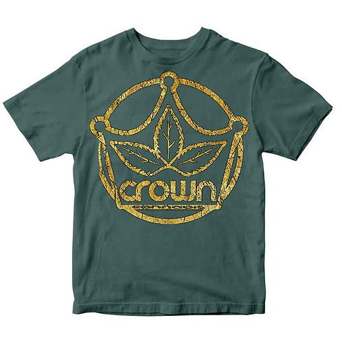 Original Gold Logo - Heather Dark Green
