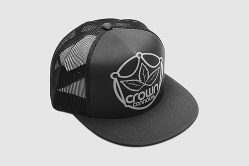 Crown Classic Trucker Black Hat