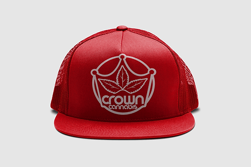 Crown Classic Trucker Red Hat