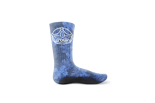 Crown Logo Purple Grow Sock