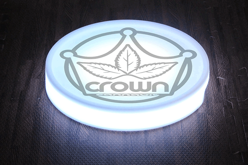 Crown LED Rolling Tray with USB Charging