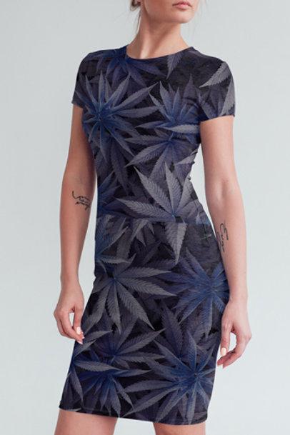 Crown Purple Leaves Dress