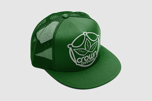 Crown Classic Trucker Green Hat
