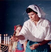 Lighting the Menorah Jewish Summer Camp