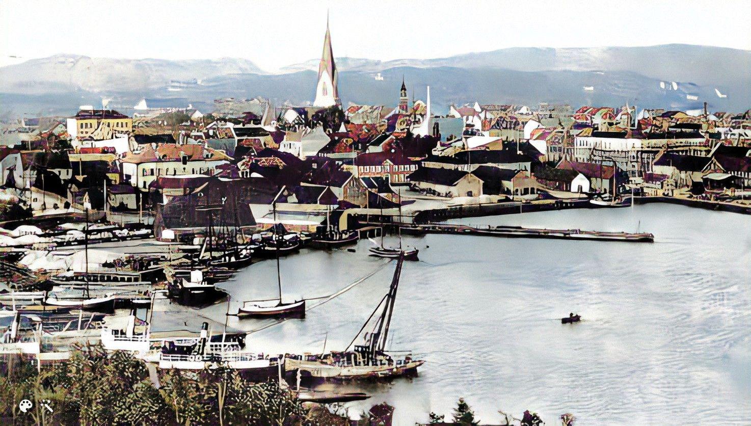 Vesthavnen i Kristiansand, 1890'erne