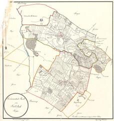 Sognekort over Sulsted sogn i Kær herred, ca. 1816