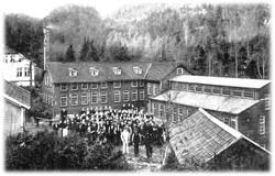 Medarbejderstaben foran Høie Spinneri