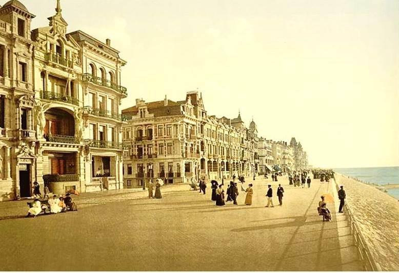 Kur- og badebyen Ostende i Belgien