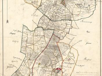 Sognekort over Hammer sogn i Kær herred, ca. 1816
