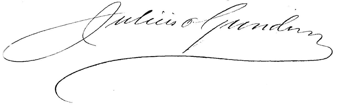 Julius' underskrift, 1908