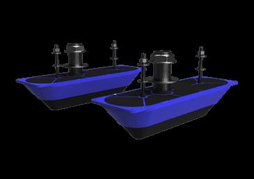 Sonaras StructureScan 3D Stainless Steel Dual Thru-Hull Transduc