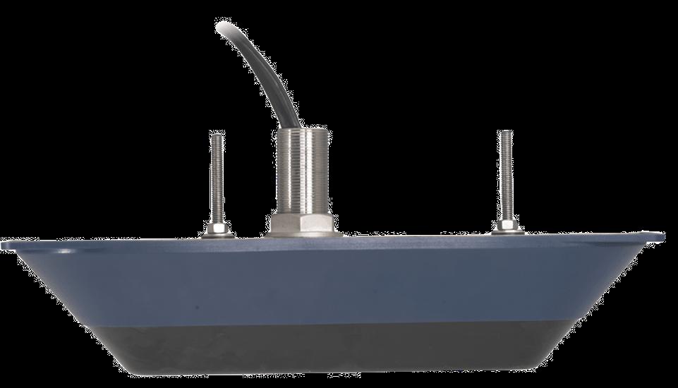 Sonaras StructureScan 3D thru hull transducer with Medium and Hi