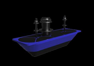 Sonaras StructureScan 3D Transducer Stainless Steel Thru-Hull Single
