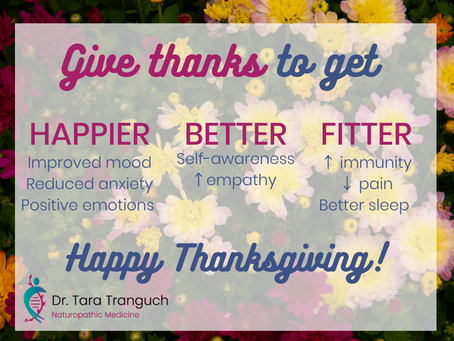 Give Thanks, Get Happy and Improve Your Health!