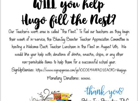 Stocking the Nest for the Teachers
