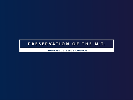 Preservation of the New Testament