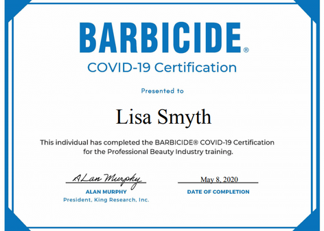 Barbicide Covid-19 Hygiene Training
