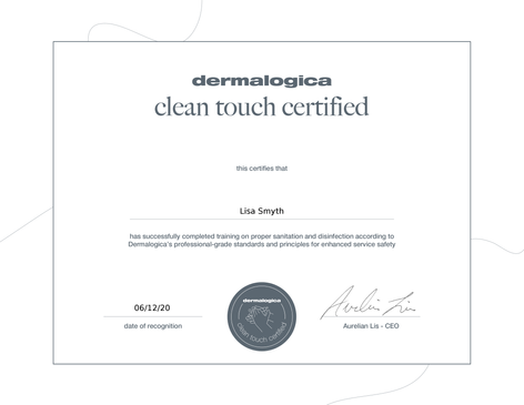 Dermalogica Covid-19 Clean Touch Training