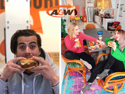 How A&W promoted the Burger Beyond Meat (100% plant-based ball) on social media ? 🍔