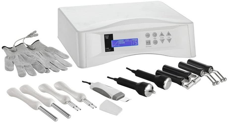 weelko, corriente galvanica, alta frecuencia, maquina, profesional, estetica, limpieza ultrasonica, ultrasonidos, facial