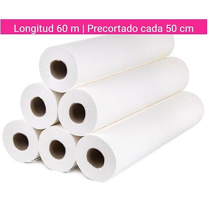 6 ROLLOS DE PAPEL GOFRADO CAMILLA